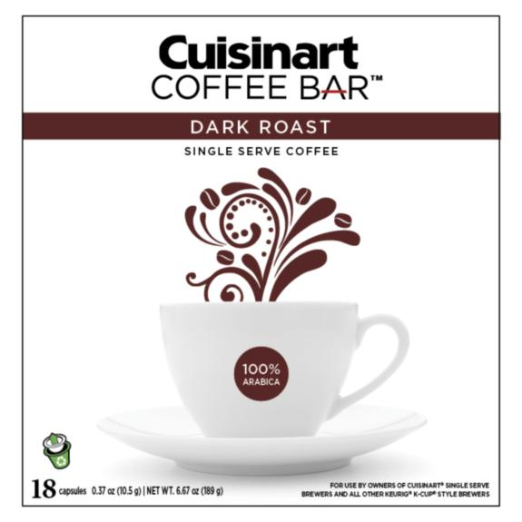 Cuisinart Coffee Bar - Dark Roast - 18 recyclable capsules