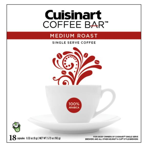 Cuisinart Coffee Bar - Medium Roast - 18 recyclable capsules