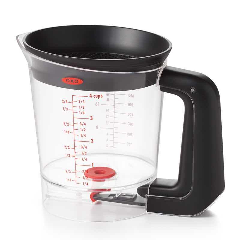 OXO Good Grips Trigger Fat Separator | 4 cup