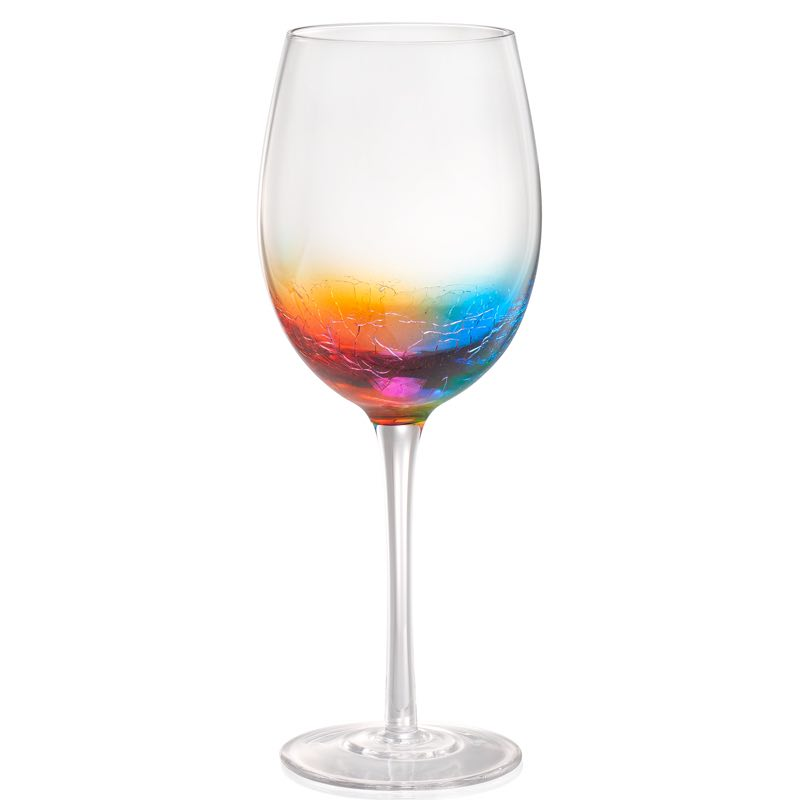 Crackle Wine Glass
