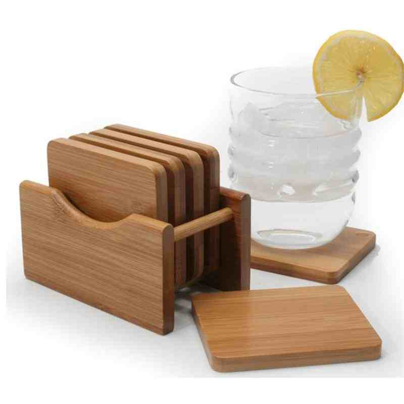 Natural Living Bamboo Coasters - Set of 6