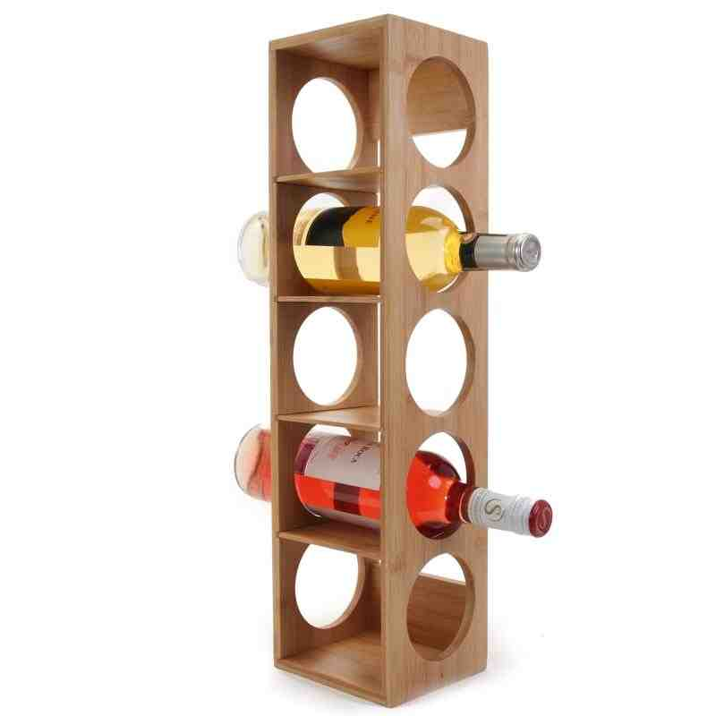 Natural Living Bamboo Wine Rack