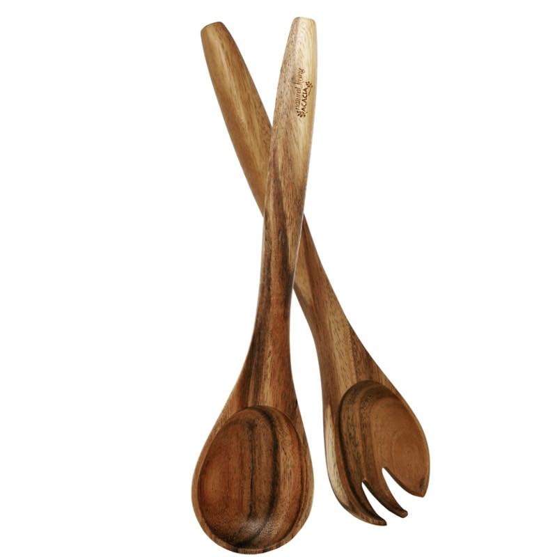 Natural Living Acacia Salad Servers