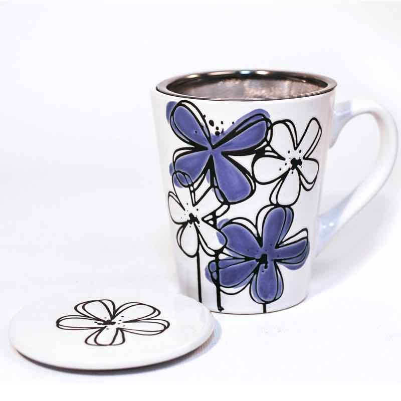 Ch'a Wildberry Tea Mug with Infuser | Purple