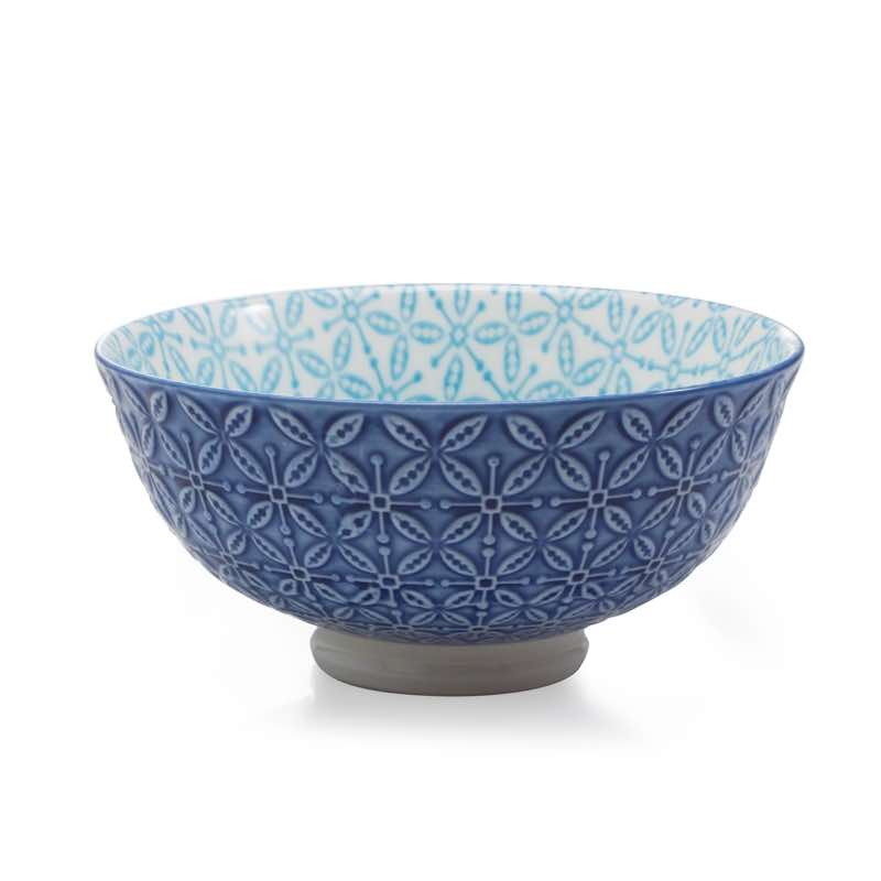 BIA Aster Footed Bowl | Blue