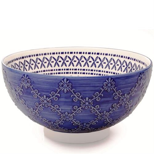 BIA Trellis Serving Bowl | Blue