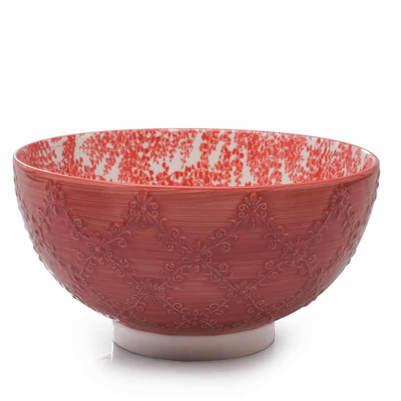 BIA Trellis Serving Bowl | Coral