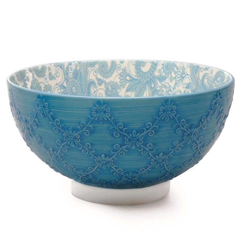BIA Trellis Serving Bowl | Teal