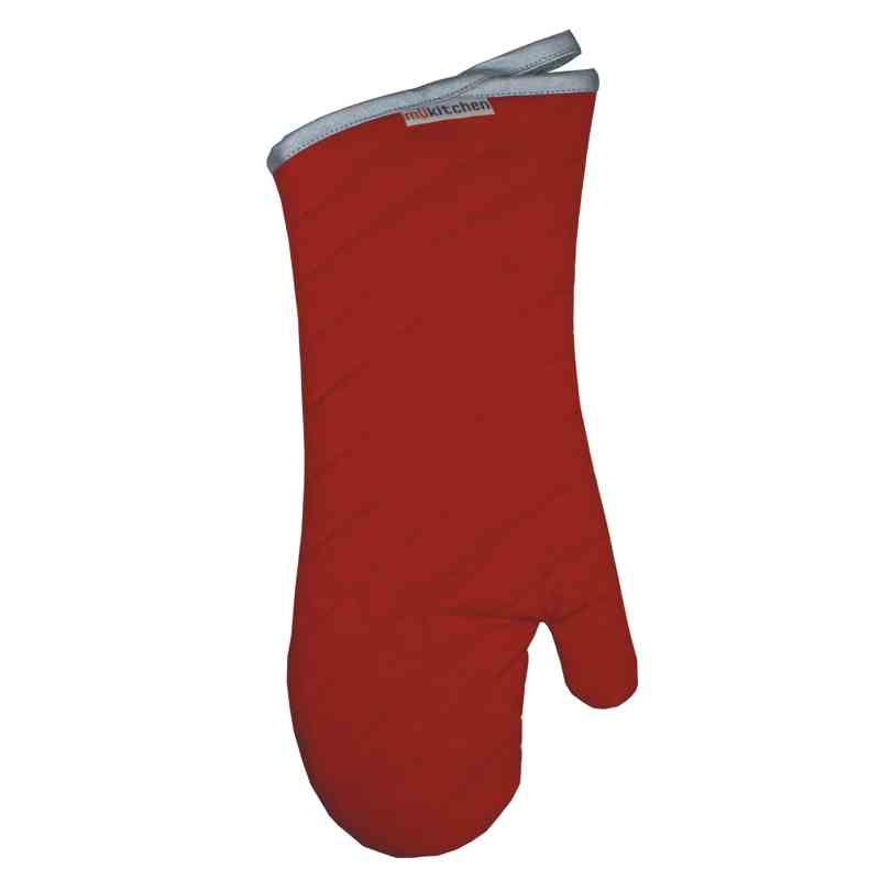 "MÜincotton Professional 17"" Heat Resistant Oven Mitt - Red"
