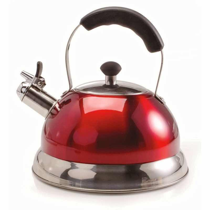 Ch'a Zenia Whistling Tea Kettle | Red