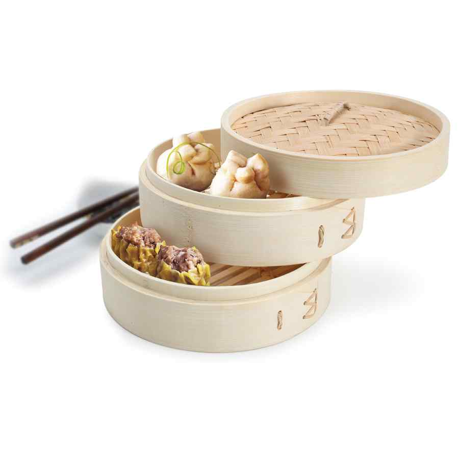 2-Tier Bamboo Steamer
