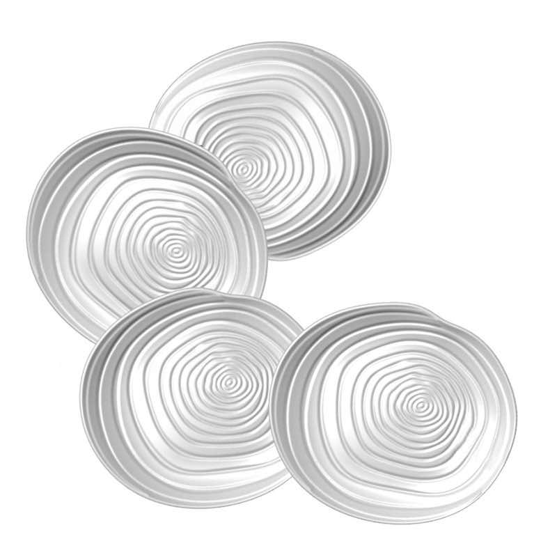 BIA Swirl Appetizer Plates | Set of 4