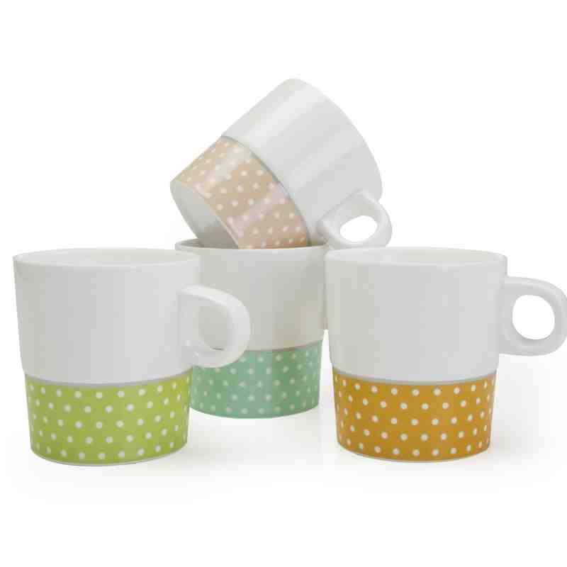 Dolce Vita Polka Dot Mugs | Set of 4