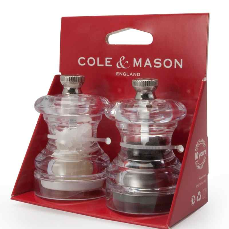 Cole & Mason Button Mini Salt & Pepper Mill Set
