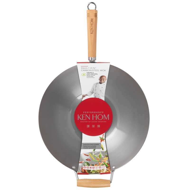 "Ken Hom 13.75"" Performance Carbon Steel Wok"