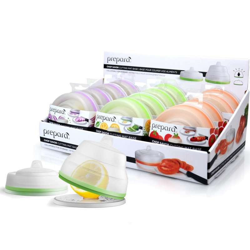 Prepara Chop Savor Cutting Mat with Collapsible Storage Lid