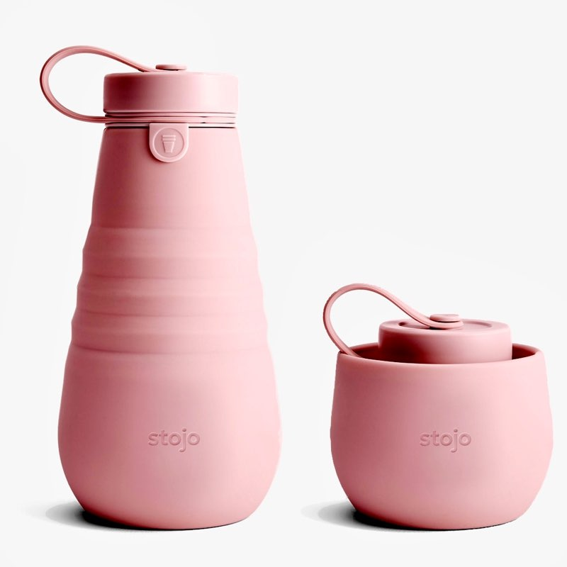 STOJO Collapsible Water Bottle | Pink