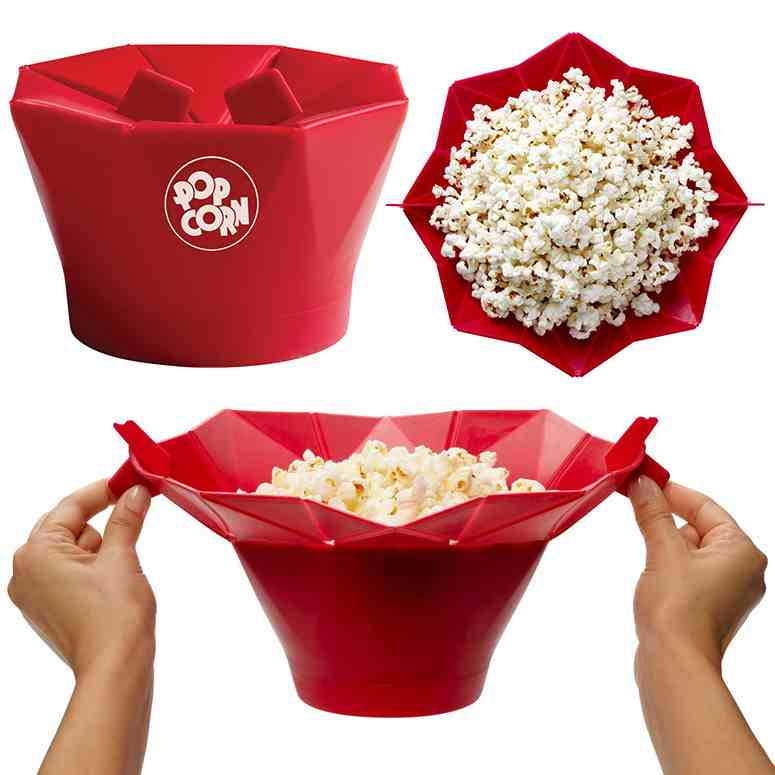 Chef'n PopTop Silicone Microwave Popcorn Popper