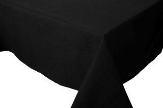 "Table Cloth 60x90"" - Spectrum Black"