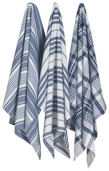 Jumbo Tea Towel Set of 3 | Indigo