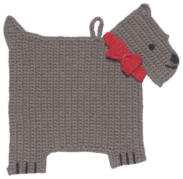 Crochet Trivet | Scotty Dog