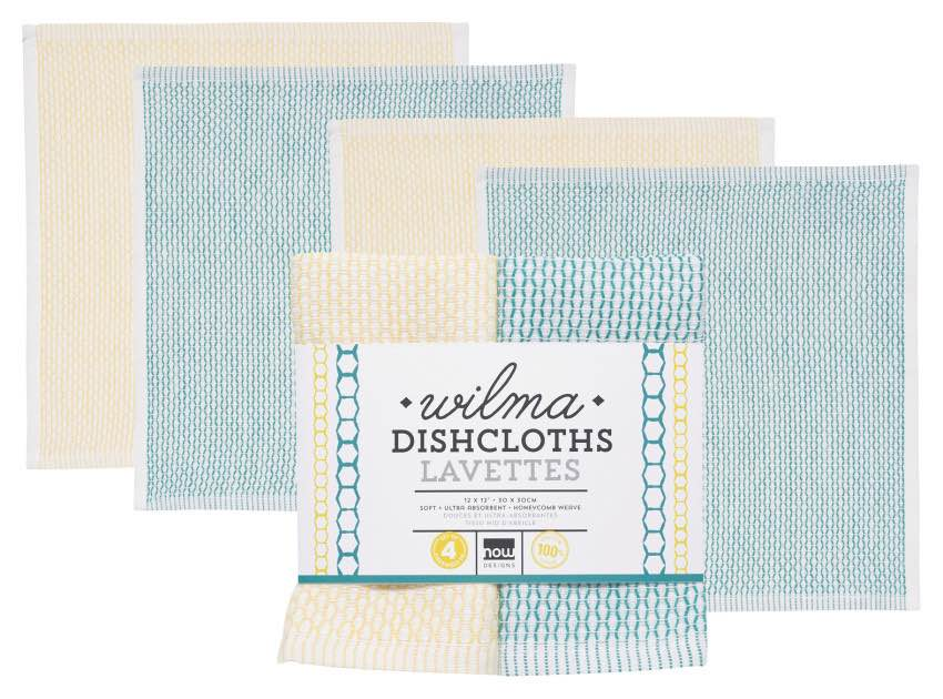 Wilma Dishcloths | Set of 4 | Teal