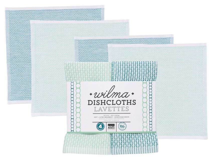 Wilma Dishcloths | Set of 4 | Peacock