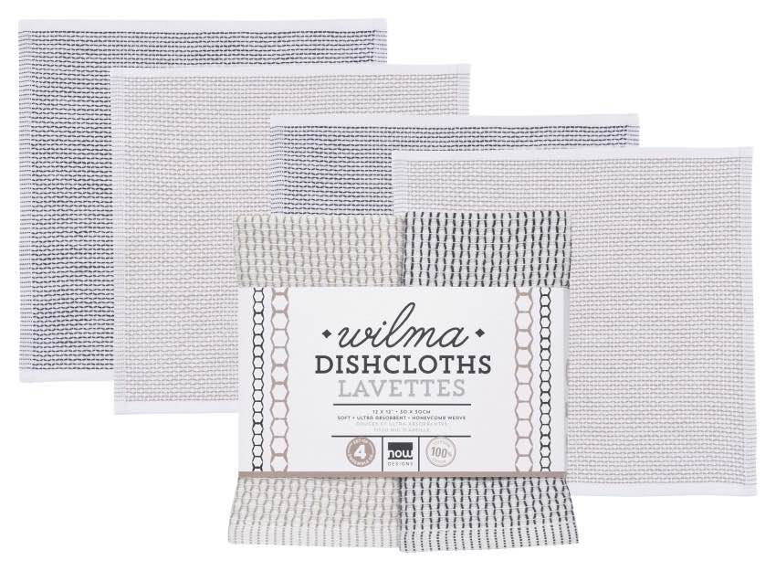 Wilma Dishcloths | Set of 4 | Slate