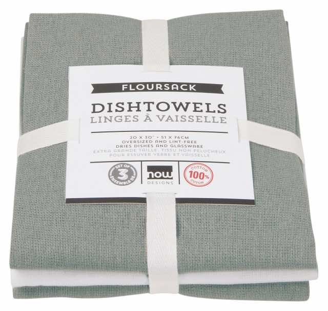 Flour Sack Tea Towels Set of 3 | London Grey
