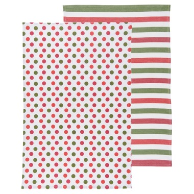 Dotty Holiday Dishtowels | Set of 2