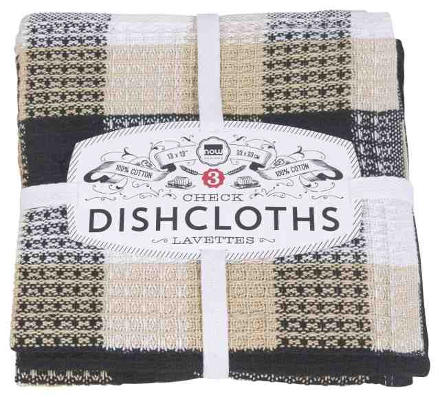 Dishcloths | Set of 3 | Black Check