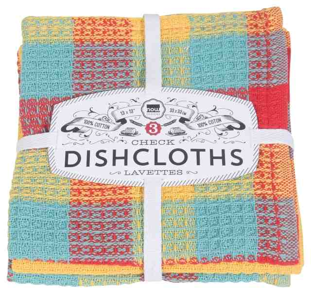 Dishcloths | Set of 3 | Lemon Check