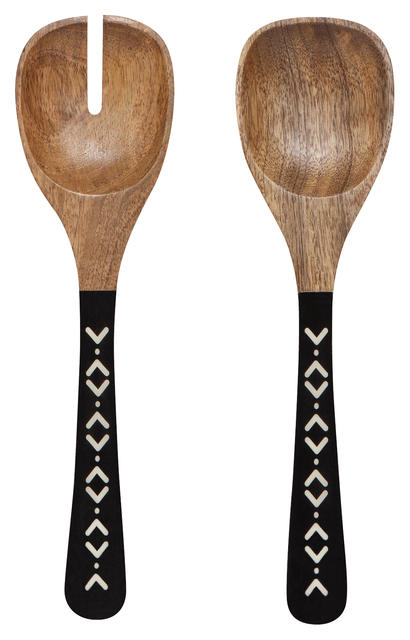 Mango Wood Salad Servers Set | Ziggy