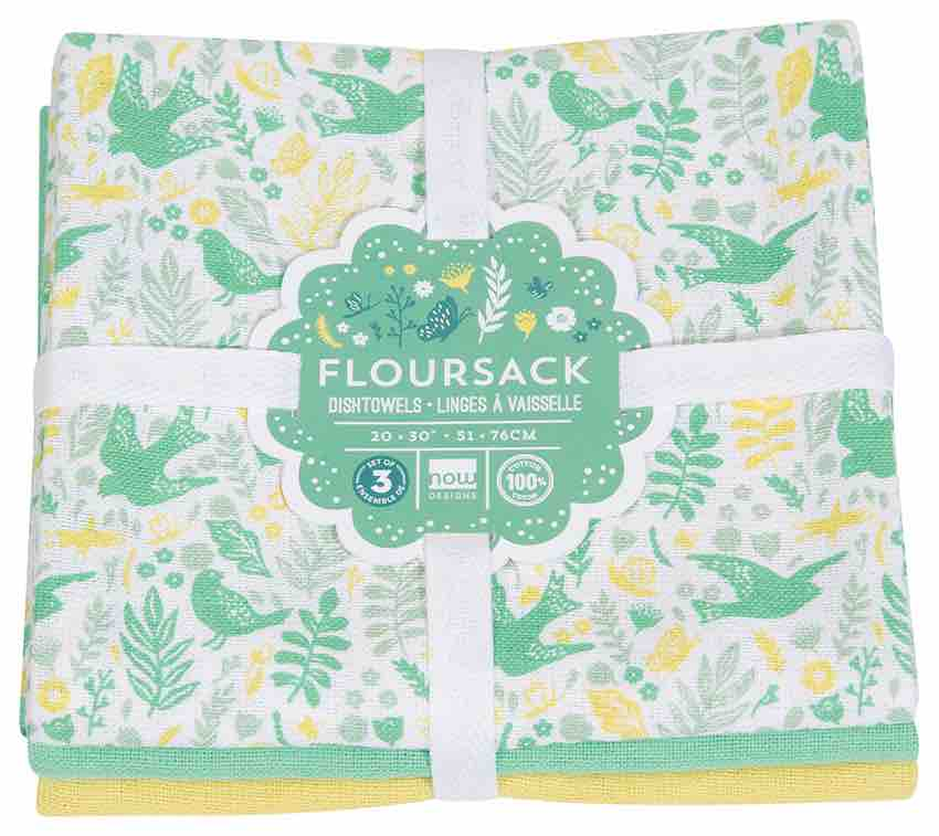 Flour Sack Tea Towels Set of 3 | Bali Blue | Meadowlark