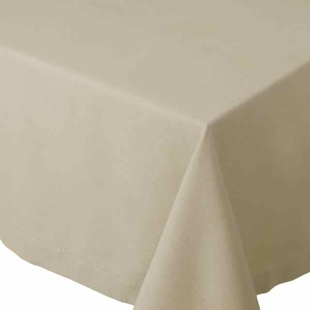 "Table Cloth 60x90"" - Hemstitch Light Taupe"
