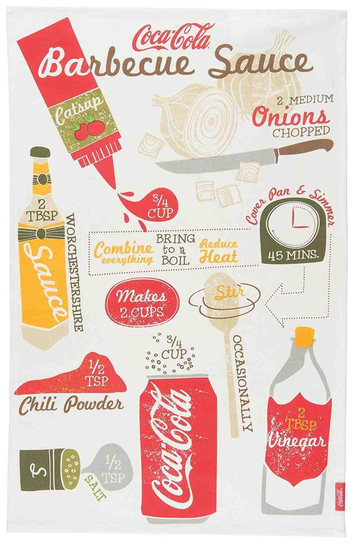 Coca Cola Dish Towel   BBQ Sauce Recipe