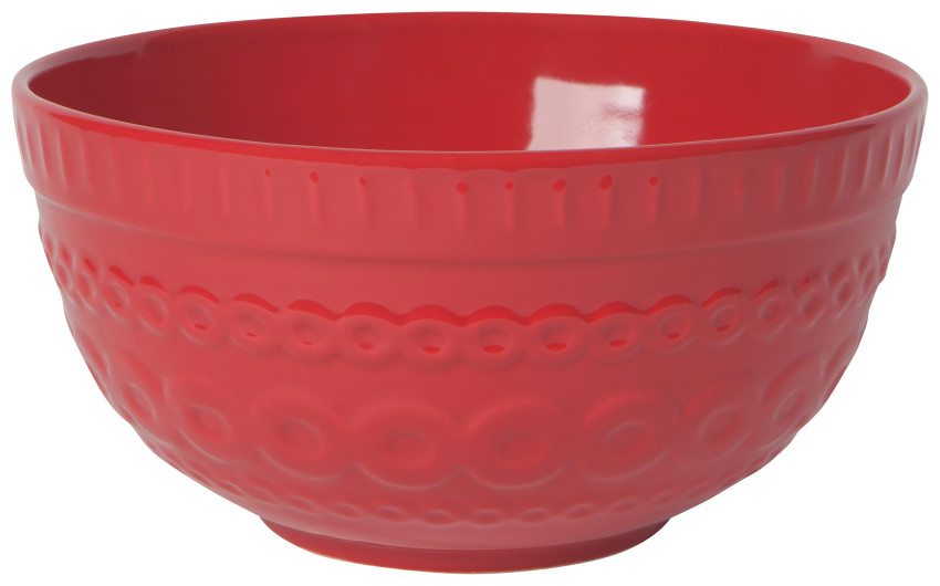 Circuit Heirloom Serving & Mixing Bowl | 3.4qt | Large Red