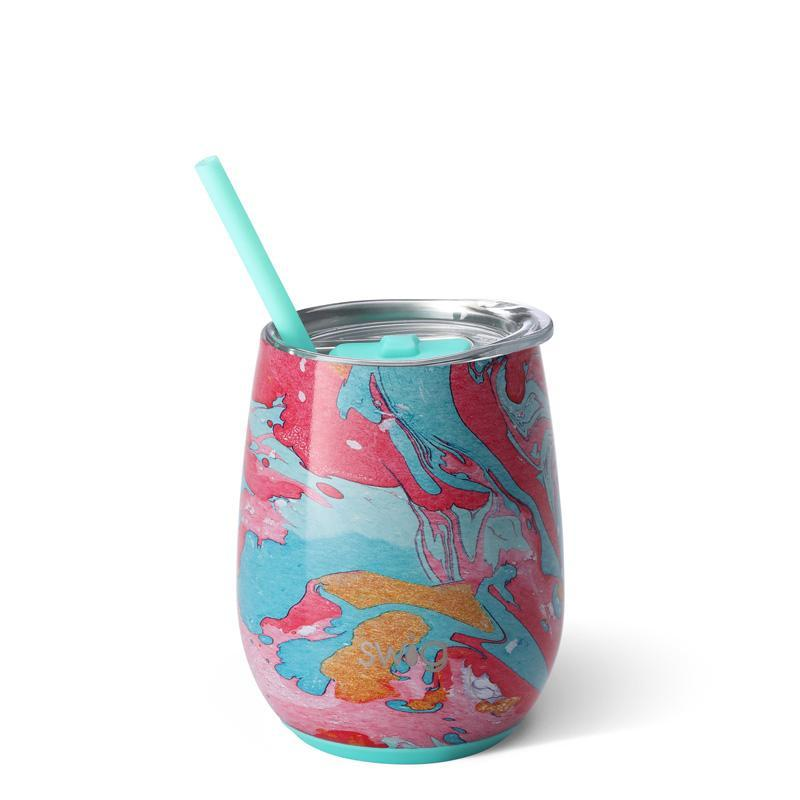 Swig Insulated Steel 14oz Wine Tumbler | Cotton Candy