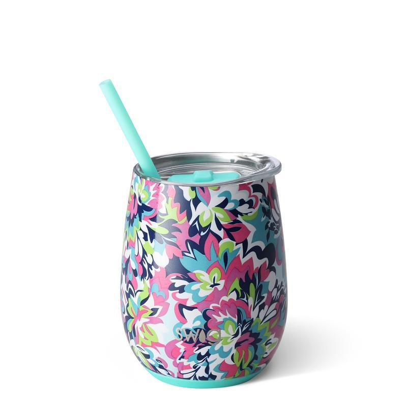 Swig Insulated Steel 14oz Wine Tumbler | Frilly Lilly