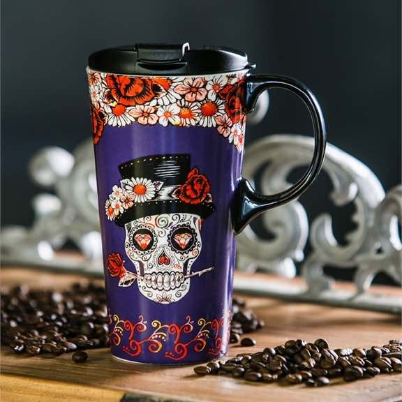 Ceramic Travel Mug | Day of the Dead II