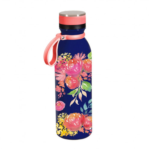 Insulated Steel Water Bottle | Bright Floral