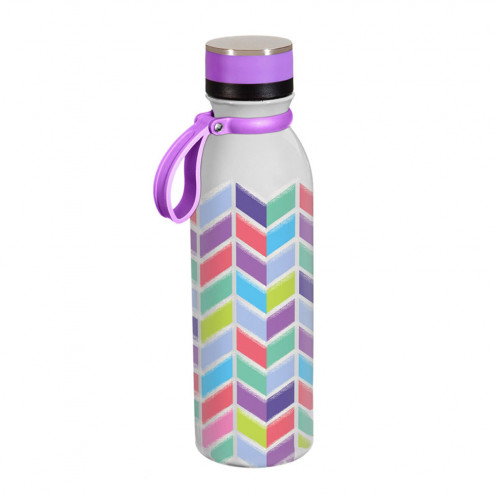Insulated Steel Water Bottle | Chevron