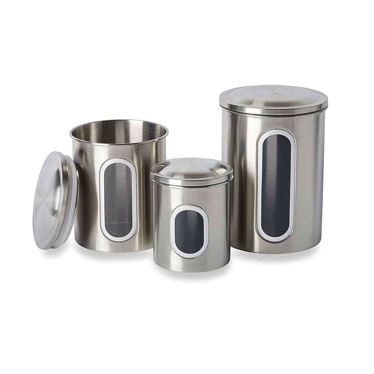 3pc Canister Set | Stainless Steel
