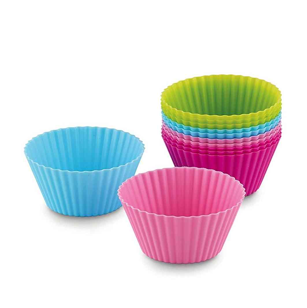 Bakelicious Silicone Baking Cups | Set of 12 Multicolored