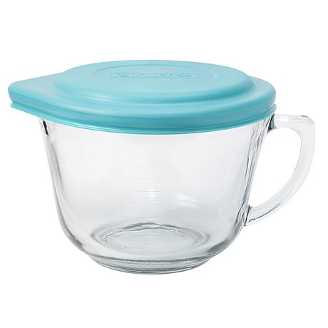 Glass Batter Bowl with Lid | 2qt