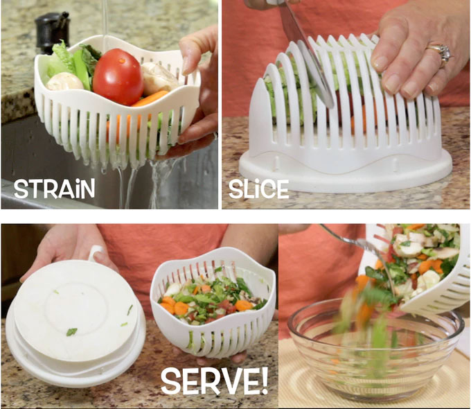 Salad Cutter Bowl | 60 Second Salads
