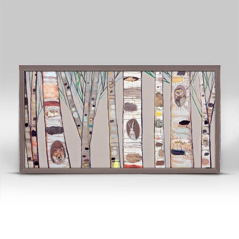 Framed Canvas | Birch Trees Natural by Eli Halpin