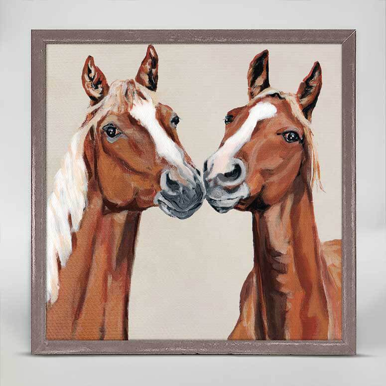 Framed Canvas | Nuzzle Noses by Stephanie Jeanne