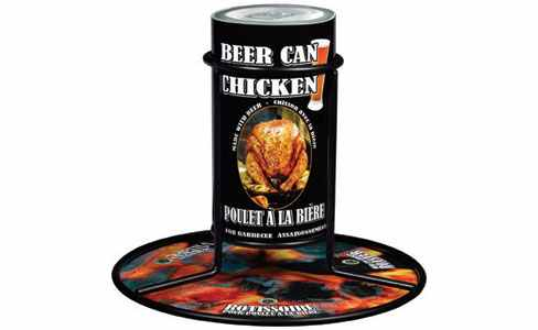 Gourmet du Village Beer Can Chicken Roaster & Seasoning