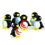 Mini Glass Penguin